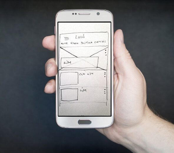 Paper prototype on mobile