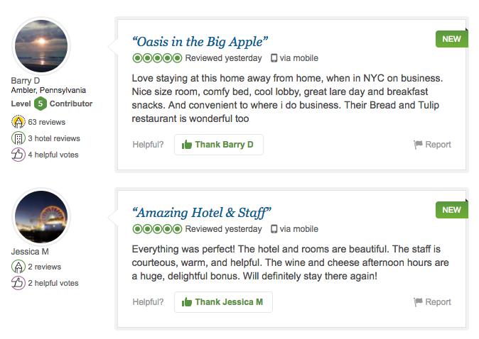 Reviews on Tripadvisor