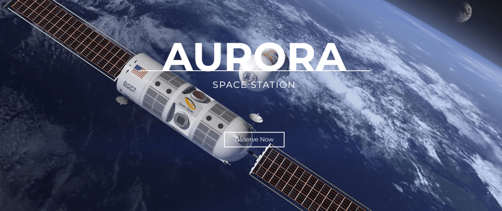 We can book the first rooms in space hotel Aurora Station in 2022